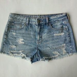 American Eagle Tomgirl Shortie Denim Shorts 4